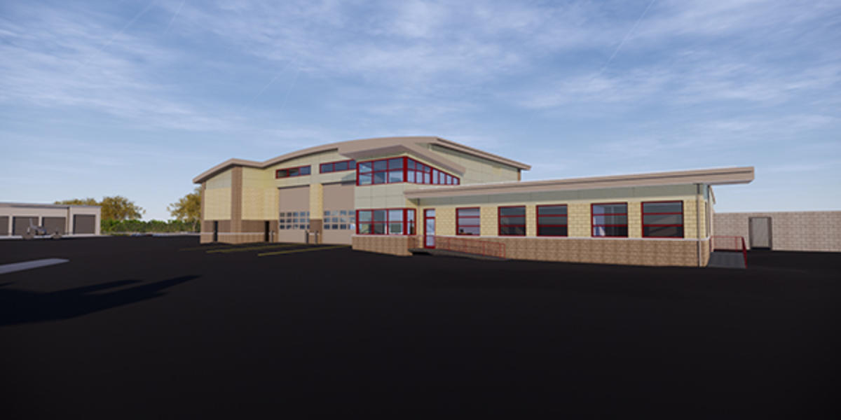 Rendering of new ARFF Station