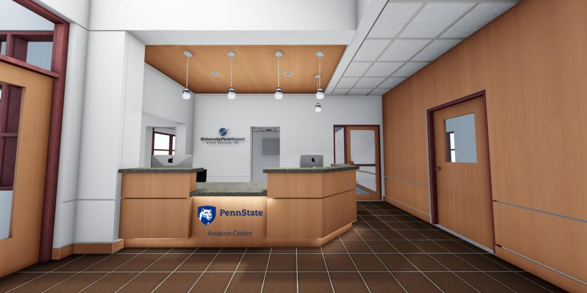 Reception Desk Aviation Center