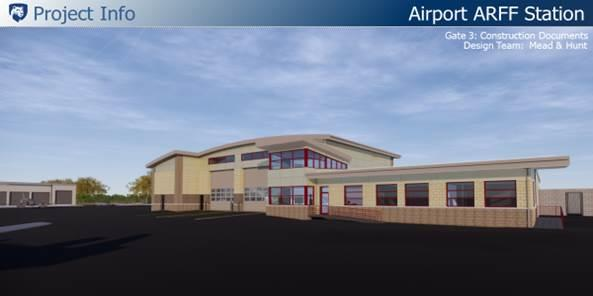 Rendering of the new AARF Station
